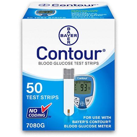 Bayer Contour Blood Glucose Test Strips 50ct