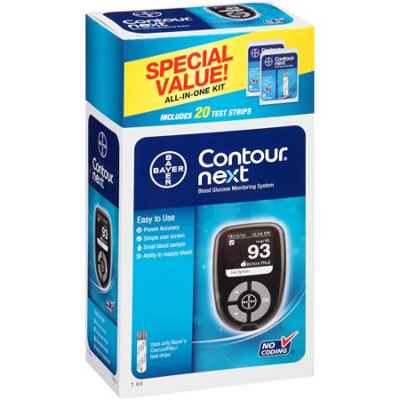 Bayer Contour Next Blood Glucose Monitoring System All In