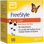 FreeStyle Lite Blood Glucose Test Strips - 100 count