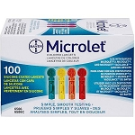 Bayer Color Microlet Lancets - 100 Count