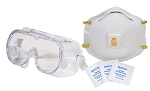 3M N95 Respirator Mask & 3M Splash Proof Goggles COVID-19 Safety Kit
