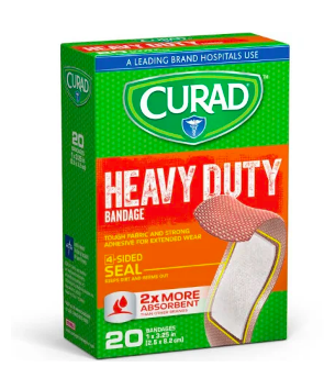 "CURAD Extreme Hold Bandages, BANDAGE, HEAVY DUTY, CURAD, 1"" X 3.25"", 20 Count"